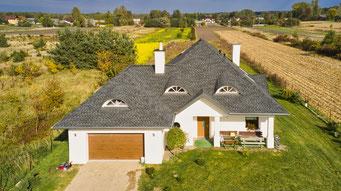 Ciekawy projekt dachu, który zwieńczył model Timberline HD w kolorze Charcoal