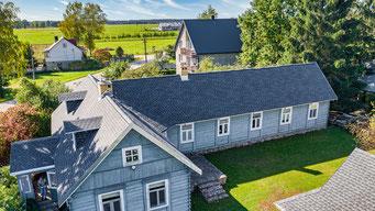 Dach pokryty gontem GAF Timberline Ultra HD Dual Shadow w kolorze Pewter Gray
