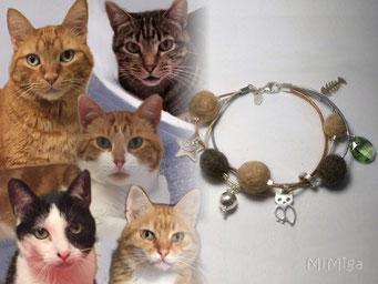 joya-artistica-mi-miga-pulsera-cuero-plata-ley-charms-swarovski-pelo-animal-gatos-klaus-duende-thor-mortimer-ronnie