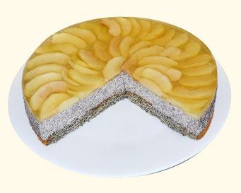 Mohncreme-Apfel-Torte
