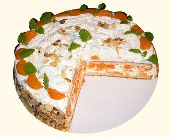 Mandarine-Sahne-Torte