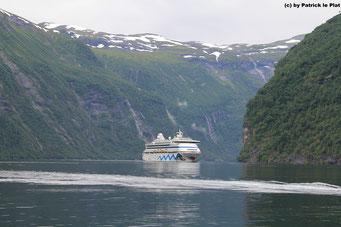 19. Juli 2016 im Geiranger Fjord (Norwegen)