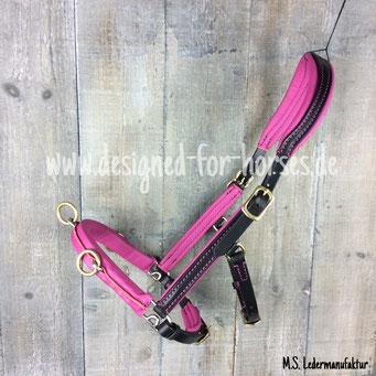 Kappzaum Maßanfertigung Pink - Schwarz