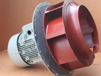 Reparatur von Lüfter-Exhauster-Gebläse in verschiedenen Ausführungen