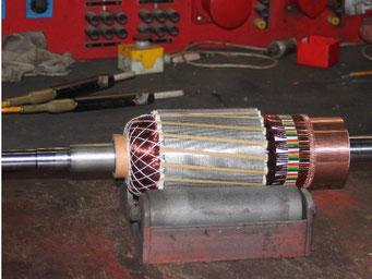 Reparatur von Gleichstrom - Nebenschlussmotoren - Gleichstrom - Nebenschlussmotoren reparieren © Elektromotoren Reparaturwerk Rock Abenberg Bild 5