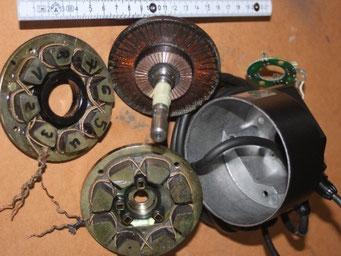 Reparatur von DC - Scheibenläufer - Motoren von verschiedenen Herstellern