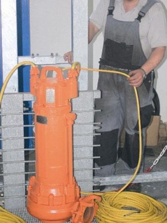 Reparatur von Tauchpumpen
