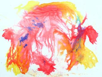 Aspirations d'eau Part. V, peinture - travail en cours - 2021