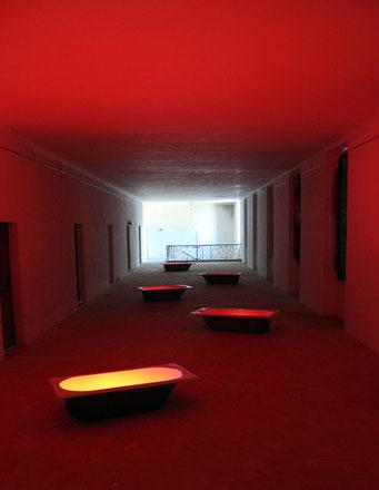 Bains de sang - installation - 2012