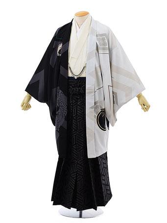 成人式紋付袴レンタルボディに着付けた写真画像