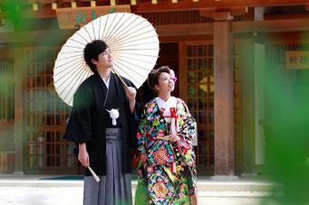 武田神社で和装前撮り撮影