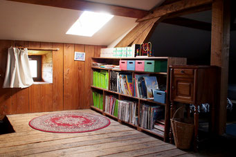 Library corner in the dormitory