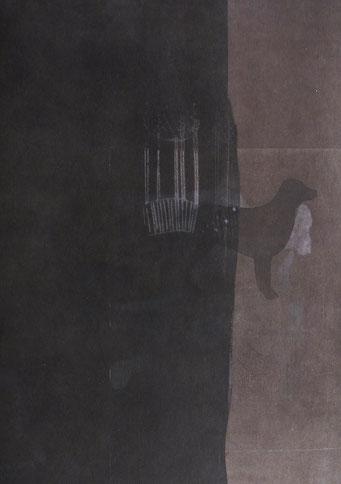 4671 - monotype - 40 x 30 cm