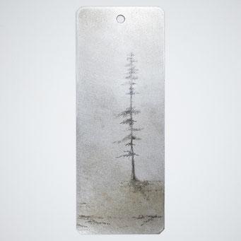 霧の中の針葉樹