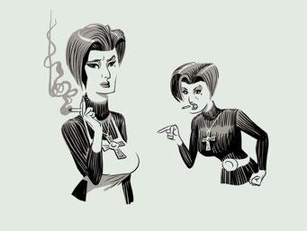 """Character-Design für Graphic Novel """"Vatermilch"""" - starke Frauenfigur, Polizistin Harriet Möller"""