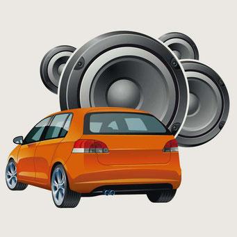 Vektor-Illustration zur Orientierung im Laden - Car Hi-fi - Kunde: Saturn