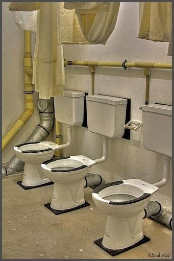 Hygiene ist das Gebot der Stunde/Bunkertoiletten