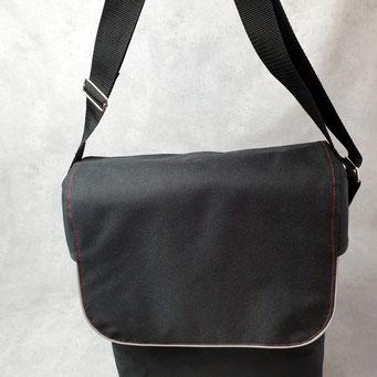 Gepäckträgertasche, Packtasche, Kleiner Karl, Schwarz mit Rot