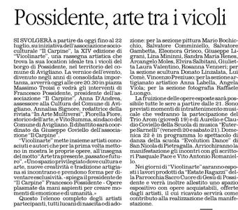 Il Quotidiano della Basilicata, 19 luglio 2012