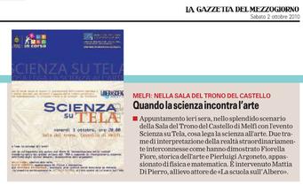 Gazzetta del mezzogiorno, 2 ottobre 2010