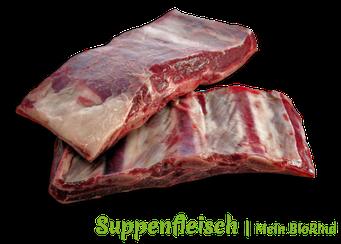 Suppenfleisch vom Auerochsen