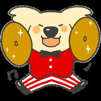 アプリ用ゆるキャラ:喜ぶコアラ2