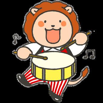 アプリ用ゆるキャラ:喜ぶライオン2