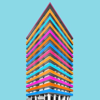 Straight - Linz colorful facades modern architecture photography