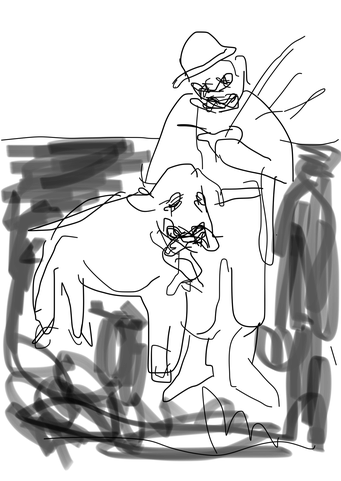 Termoclino Primoli (pecora guidarella) digital drawing
