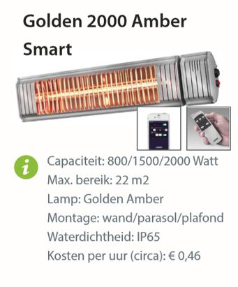 Heater - Golden 2000 Amber Smart