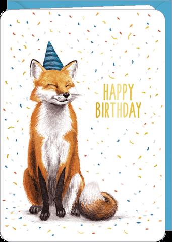 Carte double anniversaire illustrée par Rosie HILYER