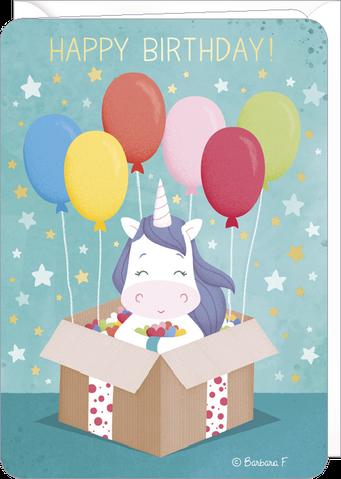 Carte double anniversaire illustrée par Barbara FORMOSA