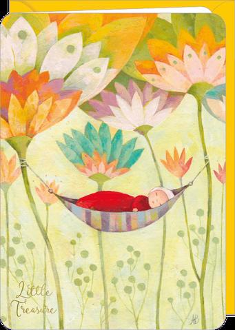 Carte double naissance illustrée par Aurélie BLANZ
