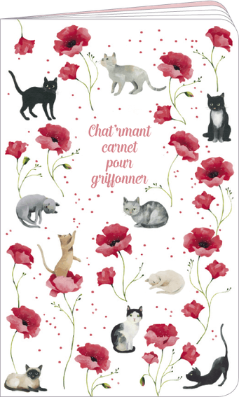 """Carnet à dessin """"chat 'rmant carnet pour griffonner"""" illustré par Aurélie Blanz"""