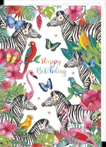 """Carte double géante """"anniversaire"""" illustrée par Mila"""