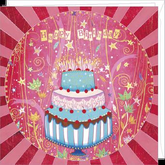 Carte double anniversaire illustrée par Jehanne WEYMAN