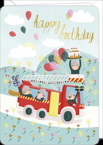 Carte double anniversaire illustrée par Laetitia HAAS