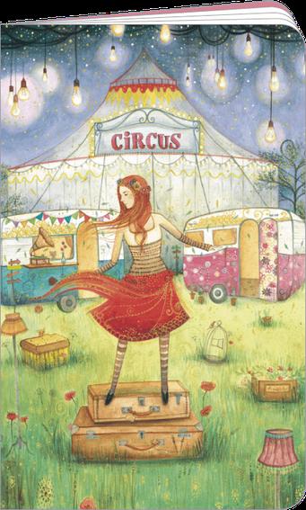 """Carnet à dessin """"circus"""" illustré par Jehanne WEYMAN"""