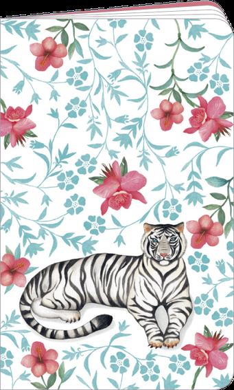 """Carnet à dessin """"tigre blanc"""" illustré par Mila"""