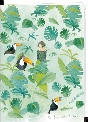 Carte double géante illustrée par Anne-Sophie RUTSAERT