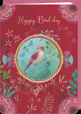Carte double anniversaire illustrée par Izou