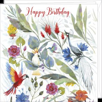 Carte double anniversaire illustrée par Aurélie BLANZ