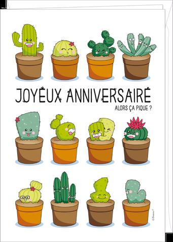 """Carte double géante """"anniversaire"""" illustrée par Barbara FORMOSA"""