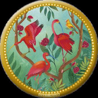 Magnet bordure dorée illustré par Mila Gablasova