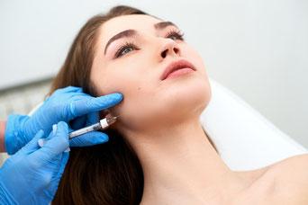 Verschmälerung der Gesichtsform durch  Botox