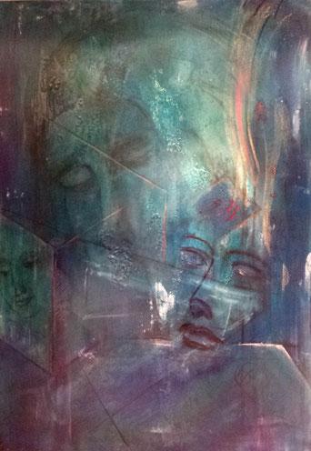BDL 16/17, Acryl auf Leinwand 100 x 70 cm /2016