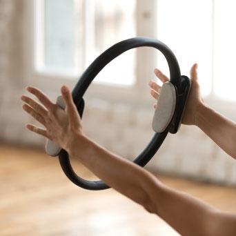 Body Toning, Theraband, Tubes, Pilates Ring