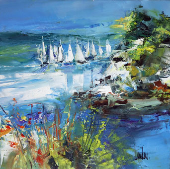 """Sailing School II"" - 40x40 - En exposition"