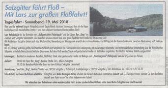 Salzgitter fährt Floß - Mit Lars zur großen Floßfahrt