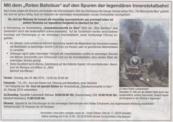 Mit dem Roten Bahnbus auf den Spuren der legendären Innerstetalbahn